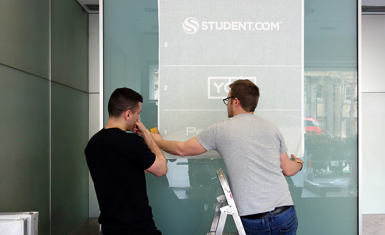 The Graphical Tree student.com office graphics print vinyl and installation