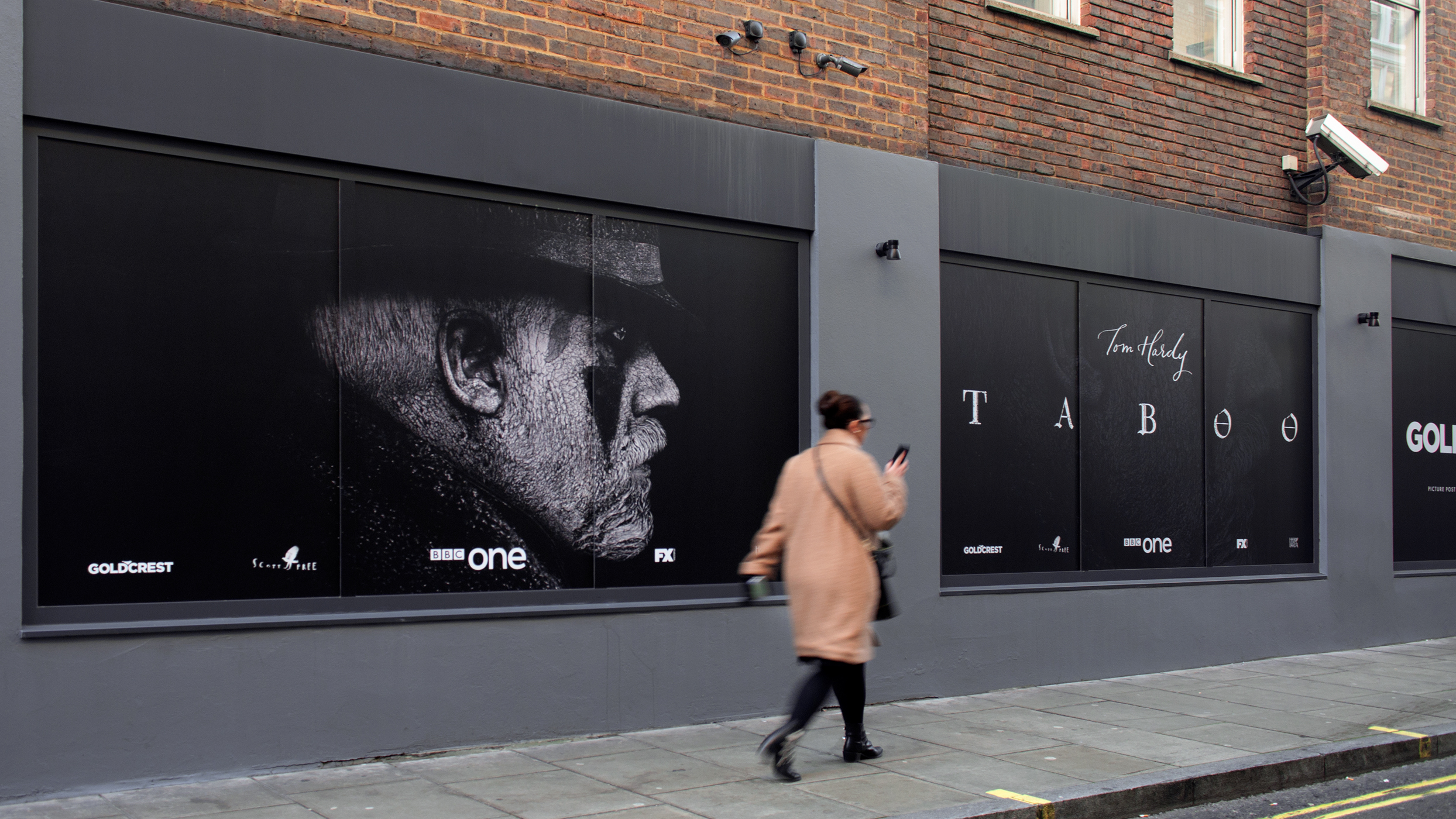 Goldcrest Taboo BBC television Tom Hardy window graphics print and installation