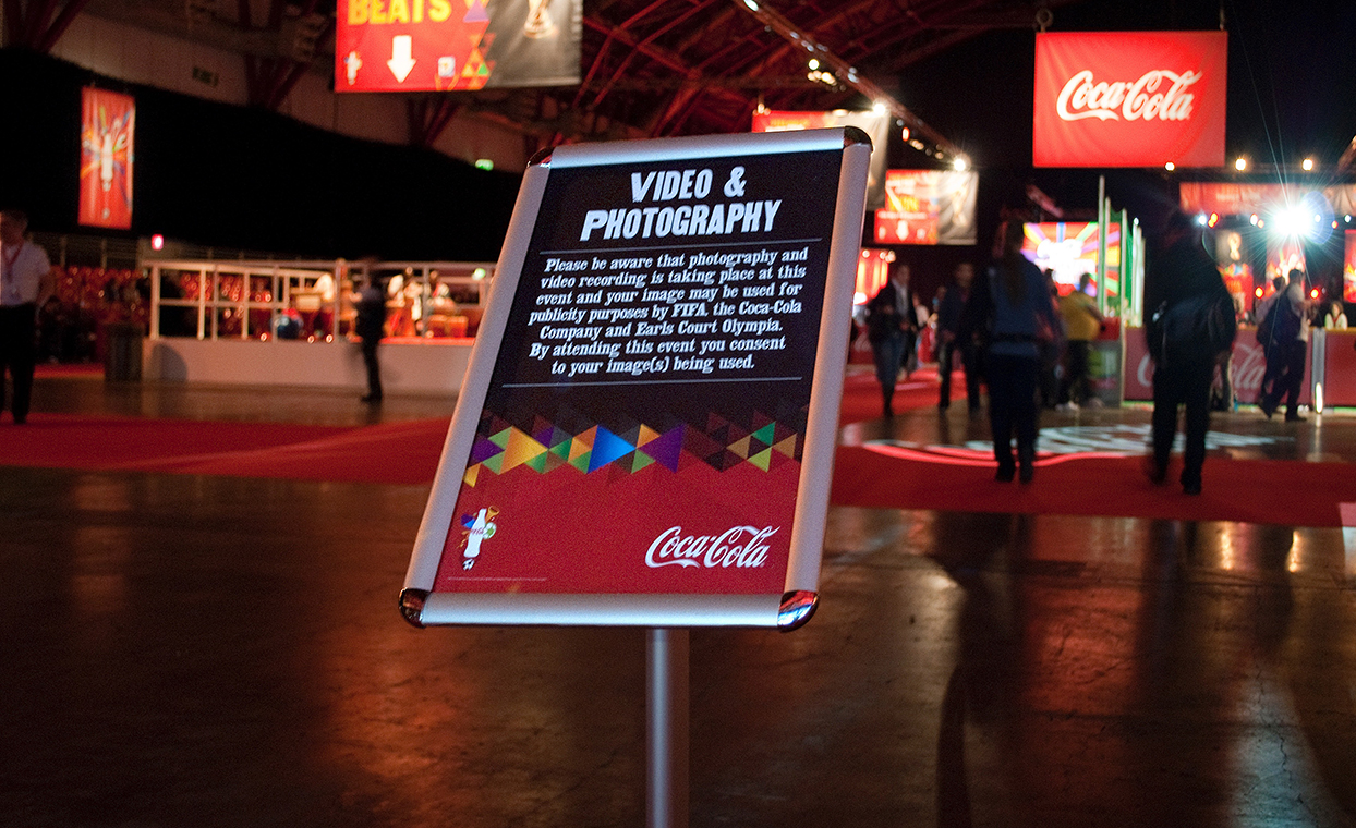 The Graphical Tree Coca-Cola FIFA World Cup Tour exhibition graphics print and installation.
