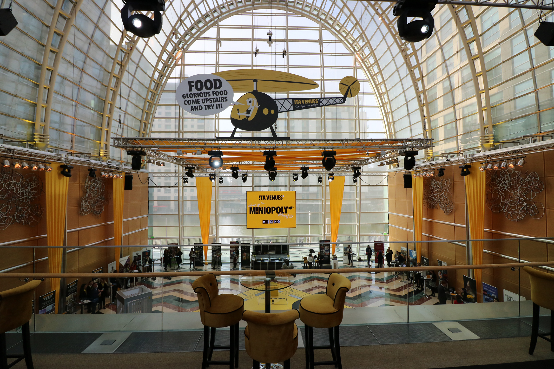 ITA Venues Miniopoly event helicopter