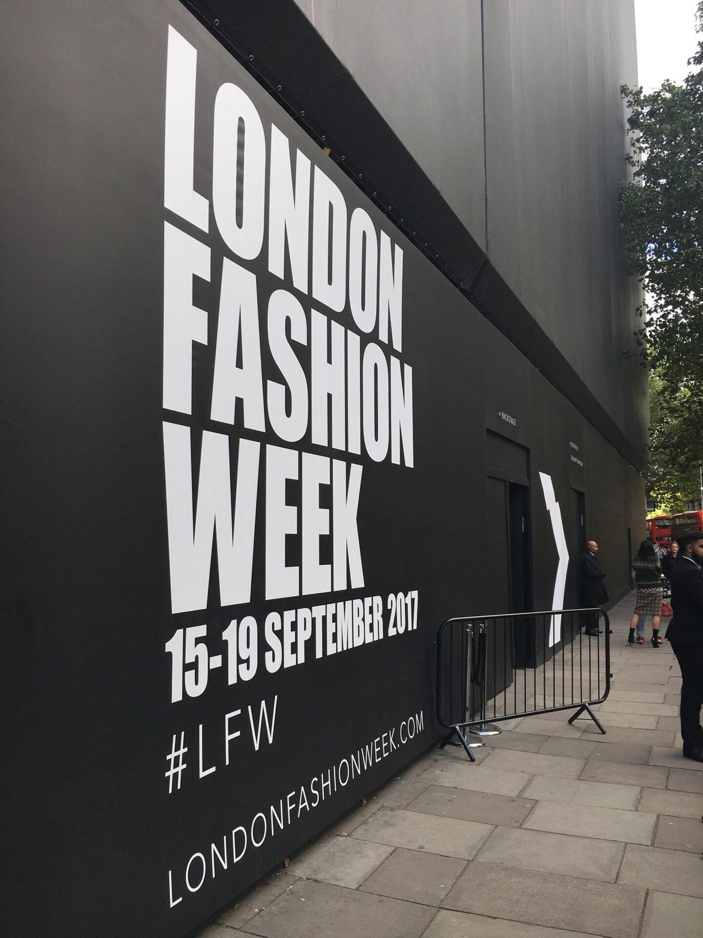 London Fashion Week signage