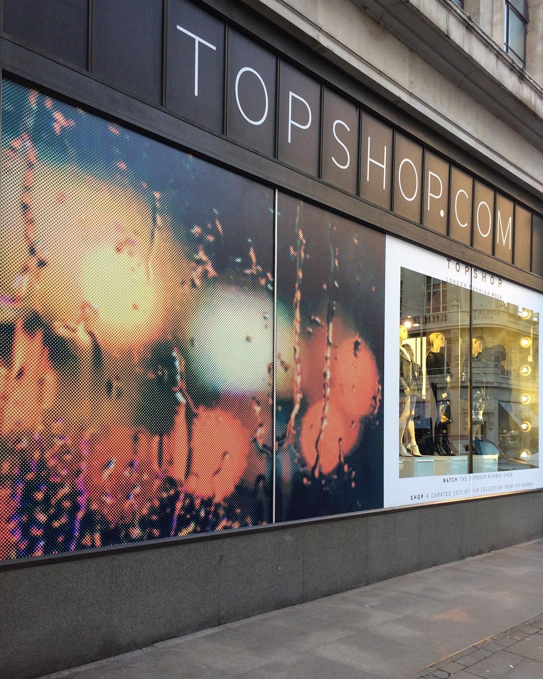 Topshop LFW windows
