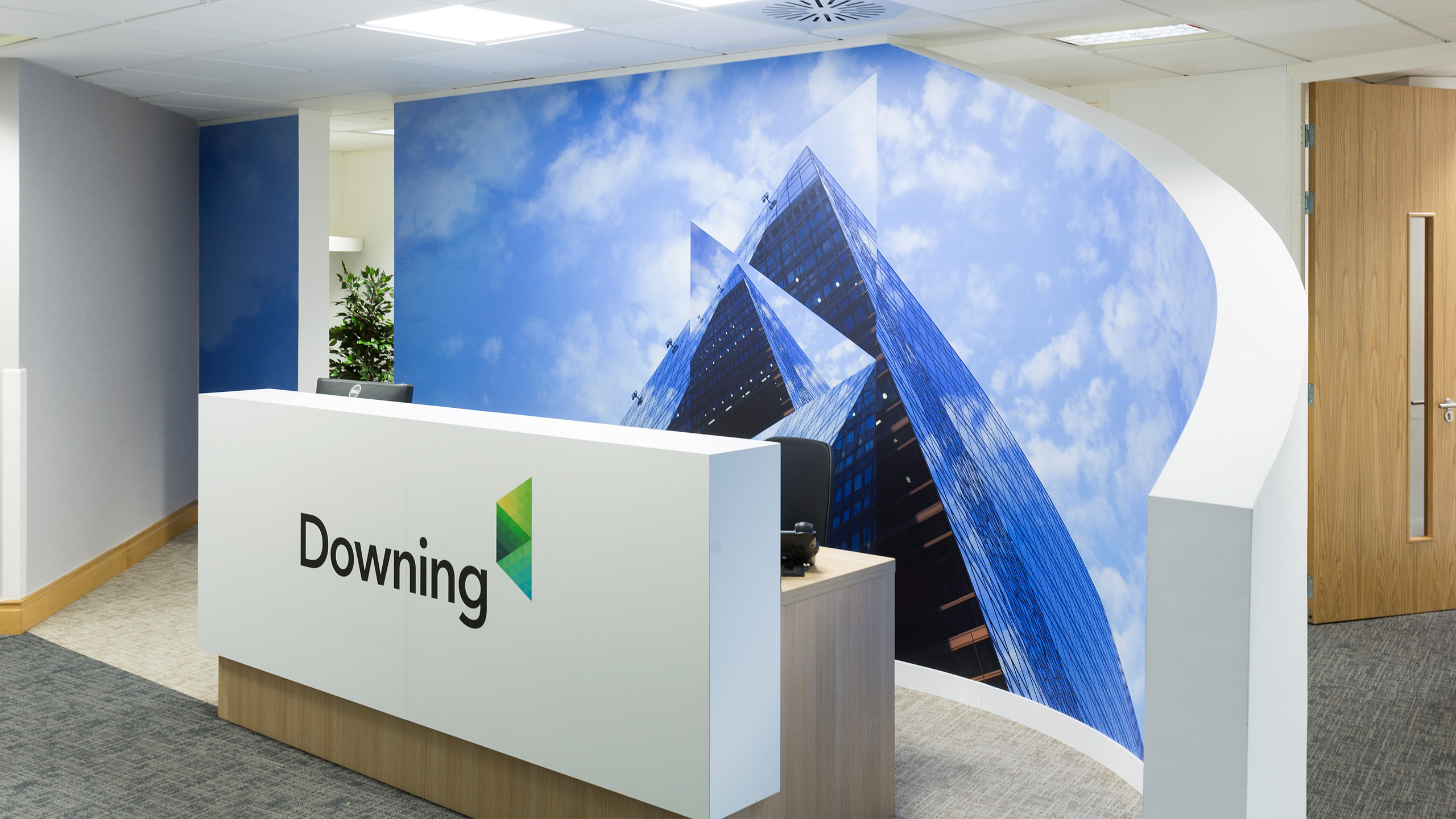 The Graphical Tree Downing office graphics design print and installation