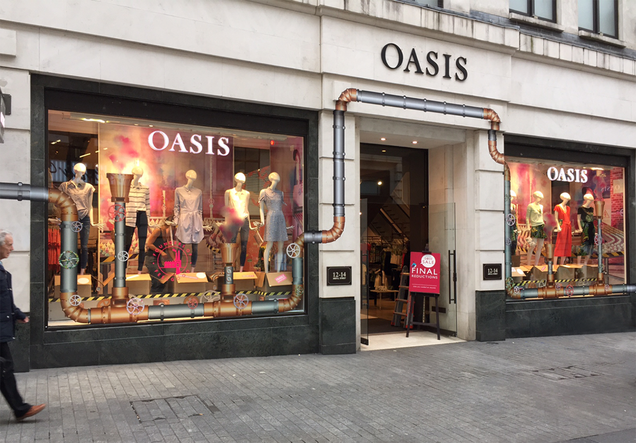 Oasis Argyll St flagship store