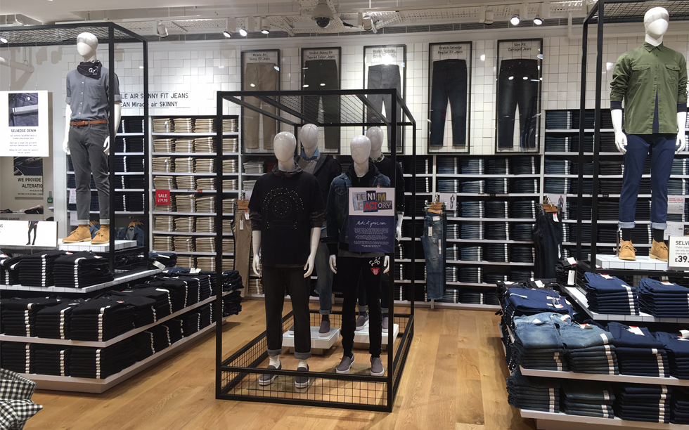 Uniqlo denim departments