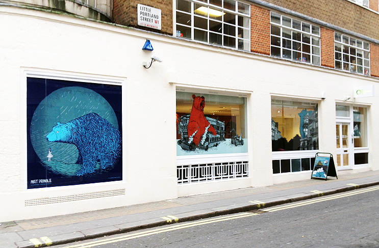 Matt Pringle window illustrations