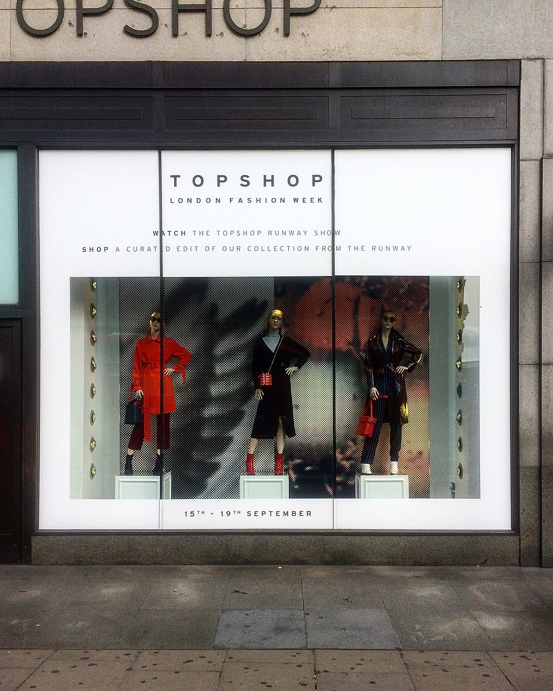 Topshop LFW windows