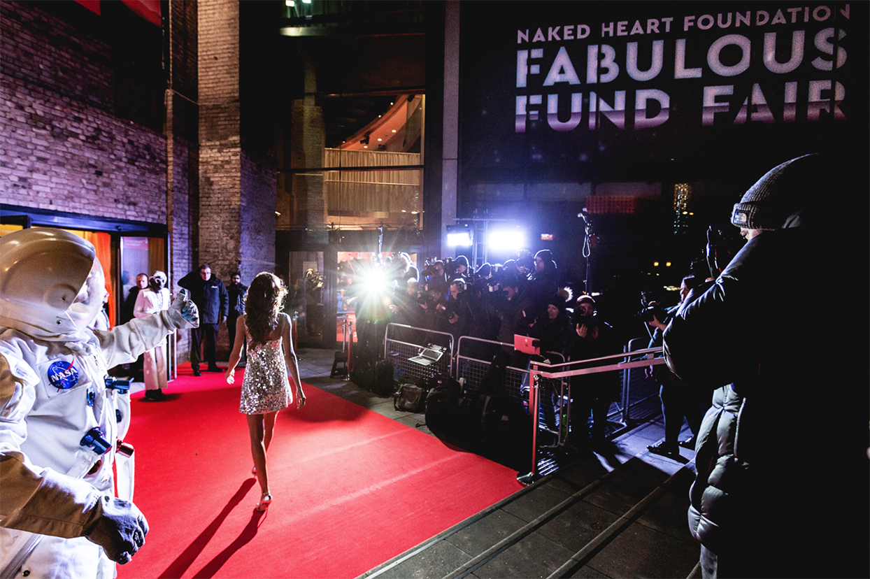 Abbey Clancy Naked Heart Foundations Fabulous Fund Fair