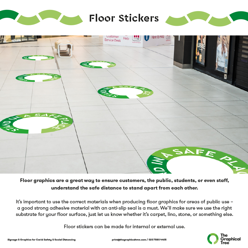 Covid safe floor stickers