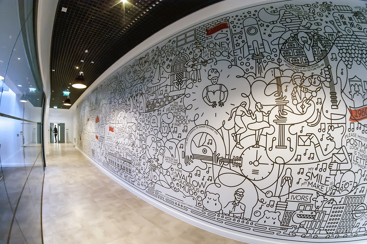 large format wall graphic